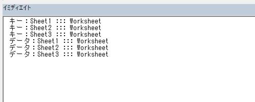 キーとデータにオブジェクトが設定できる